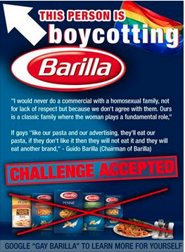barilla boycott