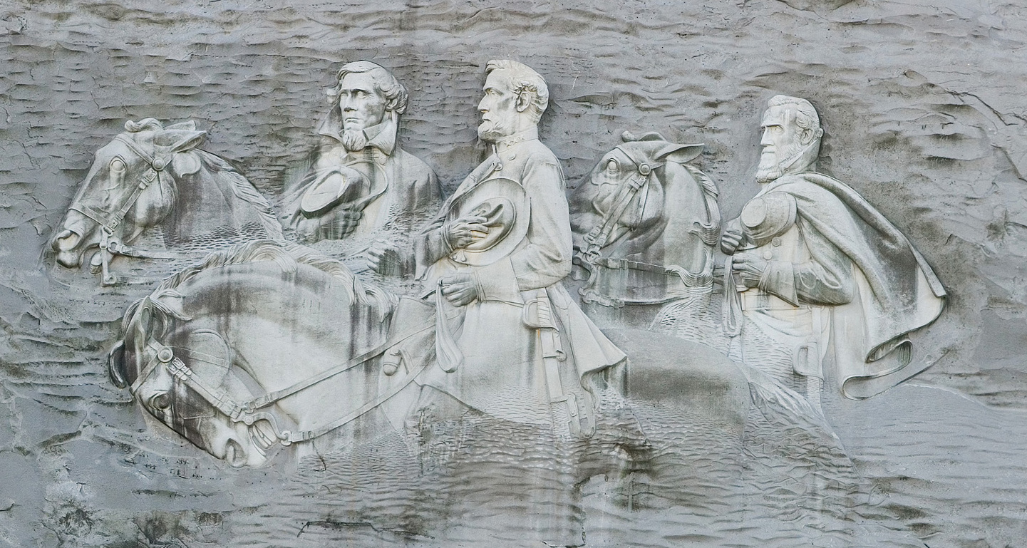 stone mountain guys The historical carving on stone mountain is the only memorial to a trio of southern generals and their horses: jefferson davis on blackjack, robert e.